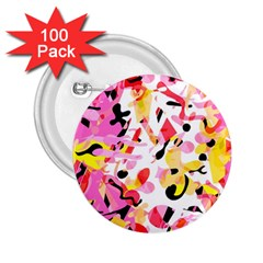 Pink pother 2.25  Buttons (100 pack)