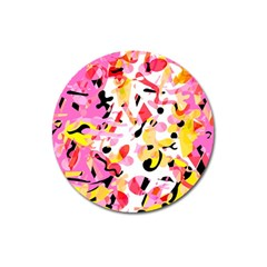 Pink pother Magnet 3  (Round)