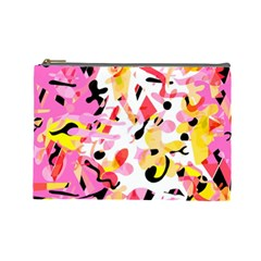 Pink pother Cosmetic Bag (Large)