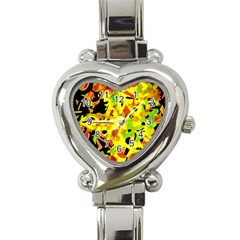 Fire Heart Italian Charm Watch