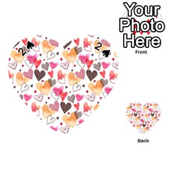 Colorful Cute Hearts Pattern Playing Cards 54 (Heart)