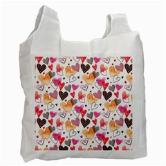 Colorful Cute Hearts Pattern Recycle Bag (Two Side)