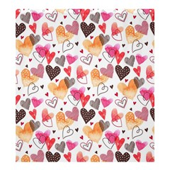 Colorful Cute Hearts Pattern Shower Curtain 66  x 72  (Large)