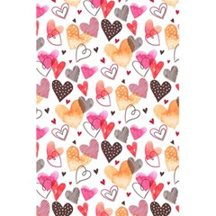 Colorful Cute Hearts Pattern 5.5  x 8.5  Notebooks