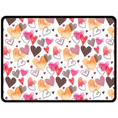 Colorful Cute Hearts Pattern Fleece Blanket (Large)