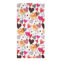 Colorful Cute Hearts Pattern Shower Curtain 36  x 72  (Stall)