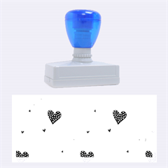Colorful Cute Hearts Pattern Rubber Stamps (Large)