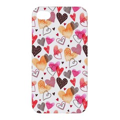 Colorful Cute Hearts Pattern Apple iPhone 4/4S Premium Hardshell Case