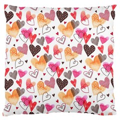 Colorful Cute Hearts Pattern Large Cushion Case (Two Sides)