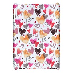 Colorful Cute Hearts Pattern Apple iPad Mini Hardshell Case