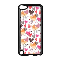 Colorful Cute Hearts Pattern Apple iPod Touch 5 Case (Black)