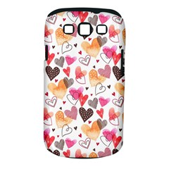 Colorful Cute Hearts Pattern Samsung Galaxy S III Classic Hardshell Case (PC+Silicone)