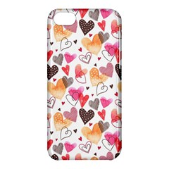 Colorful Cute Hearts Pattern Apple iPhone 5C Hardshell Case