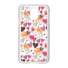 Colorful Cute Hearts Pattern Samsung Galaxy S5 Case (white)