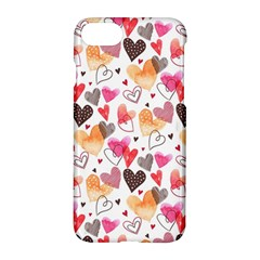 Colorful Cute Hearts Pattern Apple Iphone 7 Hardshell Case