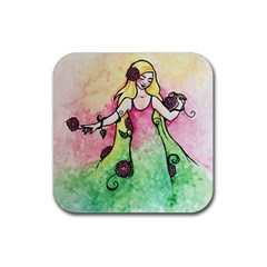 Green Thumb Spring Rubber Coaster (square)