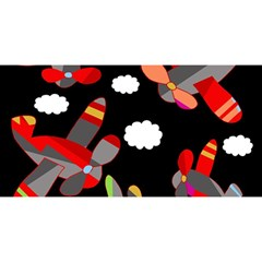 Playful Airplanes  You Are Invited 3d Greeting Card (8x4)