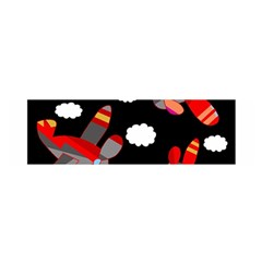 Playful airplanes  Satin Scarf (Oblong)