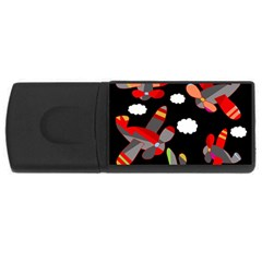Playful airplanes  USB Flash Drive Rectangular (1 GB)