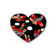 Playful airplanes  Heart Coaster (4 pack)