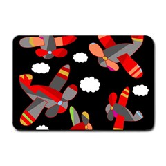 Playful airplanes  Small Doormat