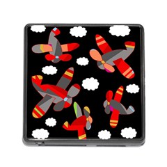 Playful airplanes  Memory Card Reader (Square)