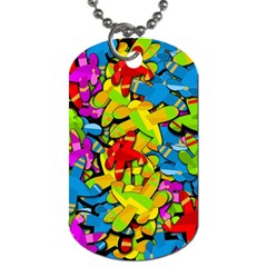 Colorful airplanes Dog Tag (Two Sides)