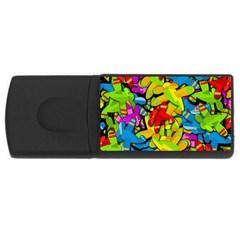 Colorful airplanes USB Flash Drive Rectangular (1 GB)