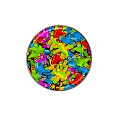 Colorful airplanes Hat Clip Ball Marker