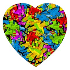 Colorful airplanes Jigsaw Puzzle (Heart)