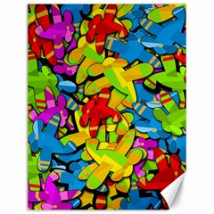 Colorful airplanes Canvas 12  x 16