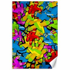 Colorful airplanes Canvas 24  x 36