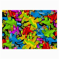 Colorful airplanes Large Glasses Cloth (2-Side)