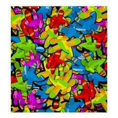 Colorful airplanes Shower Curtain 66  x 72  (Large)