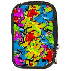 Colorful airplanes Compact Camera Cases