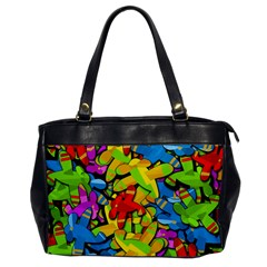 Colorful airplanes Office Handbags