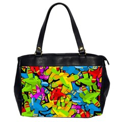 Colorful airplanes Office Handbags (2 Sides)