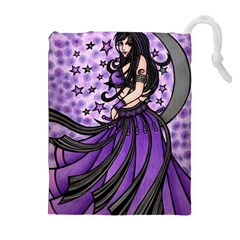 Violet Moon Belly Dancer Drawstring Pouches (extra Large)