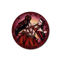 Gemini Tribal Twins Rubber Coaster (round)