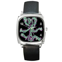 Playful dots Square Metal Watch