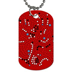 Red fantasy Dog Tag (Two Sides)