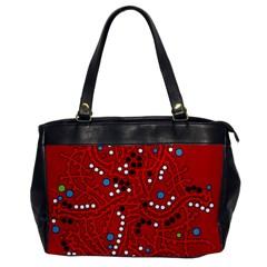 Red fantasy Office Handbags