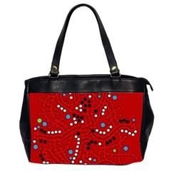 Red fantasy Office Handbags (2 Sides)
