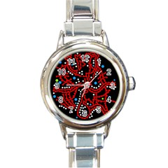 Red fantasy 2 Round Italian Charm Watch