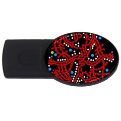 Red fantasy 2 USB Flash Drive Oval (2 GB)