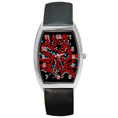 Red fantasy 2 Barrel Style Metal Watch