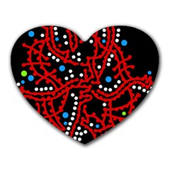 Red fantasy 2 Heart Mousepads