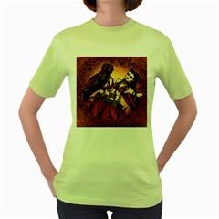 Gemini Tribal Twins Women s Green T Shirt