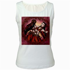 Gemini Tribal Twins Women s White Tank Top