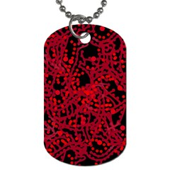 Red emotion Dog Tag (Two Sides)